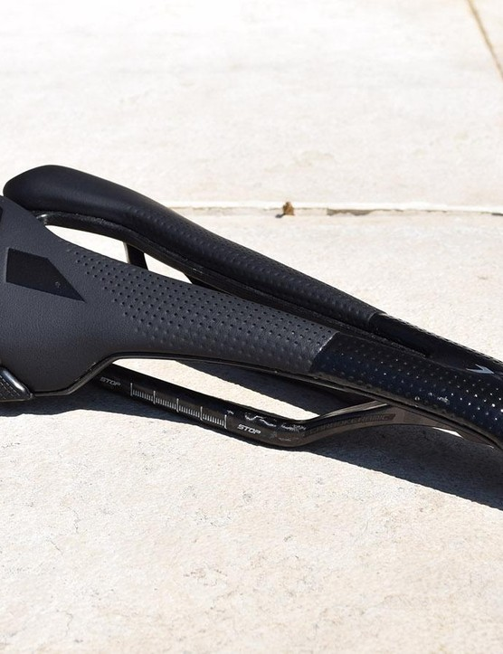 Bumpers on the rear quarters of the saddle improve durability