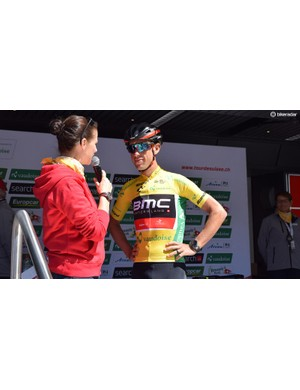 Richie Porte in the yellow jersey ahead of Stage 6