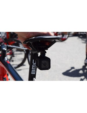 Stefan Kung was equipped with a GoPro during Stage 6 to provide live in-race footage