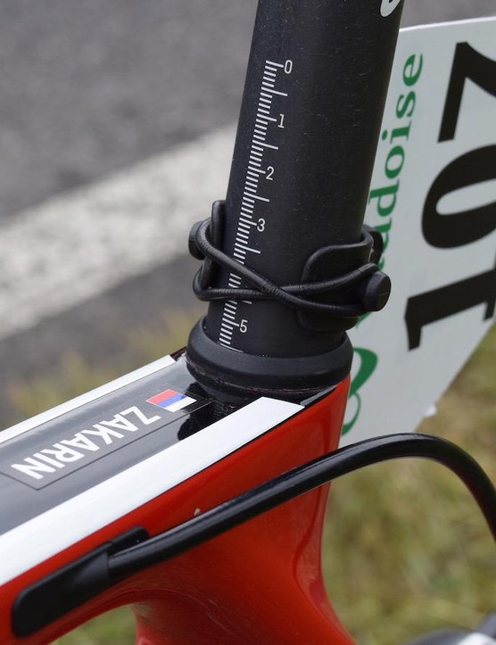 Measurement markings on the seat post ensure perfect setup of the bike every time