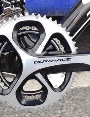 Standard gearing of 53/39 combined with an 11-28 cassette