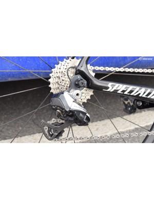 Jungels ran a Shimano Ultegra cassette for the Tour de Romandie