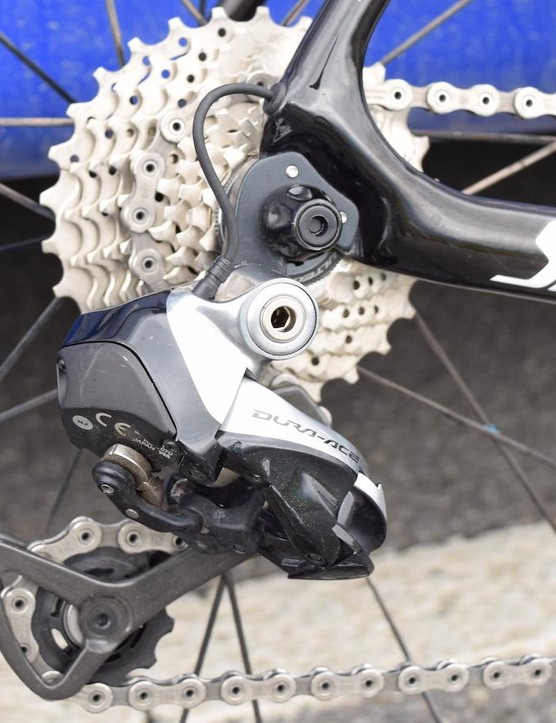 Jungels ran a Shimano Ultegra cassette for the Tour de Romandie