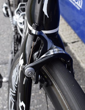 Jungels updated to the latest 9100 series groupset for the Giro d'Italia