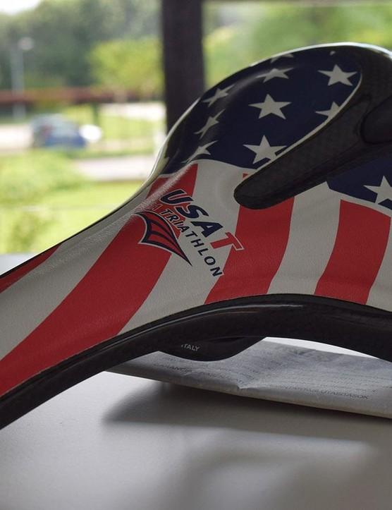 The Italian company has made saddles for the US Triathlon team