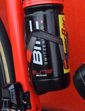 Elite Vico carbon bottle cages are paired with Elite bottles