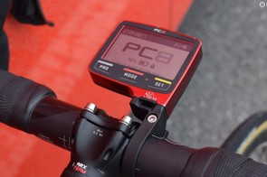 SRM's power meter is paired with the PC-8 head unit