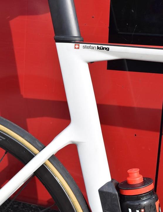 No rear rim brake caliper results in a clean looking rear end