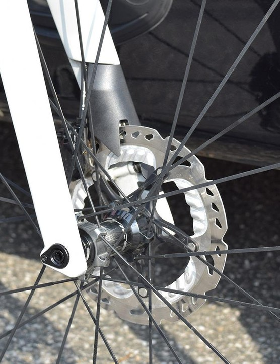 The fork thru-axle thread looks to be replacable in case of any thread damage, as opposed to replacing the entire fork