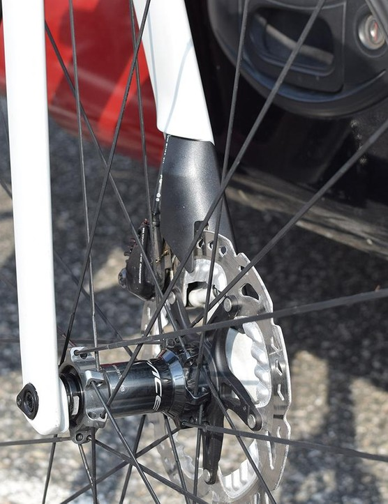 Another look at the fork drop outs and disc brake fairing