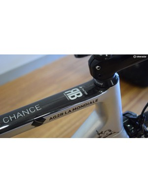 Bardet's initials also adorn the top tube