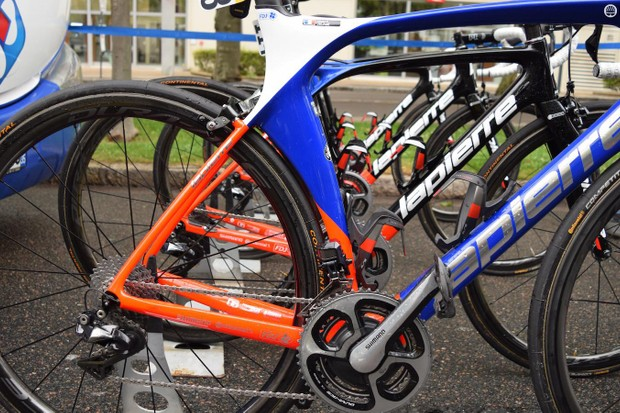 The curved seat tube of the Aircode will contribute to improved aerodynamics