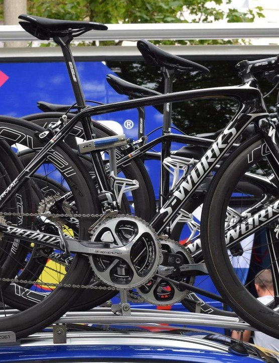 Dan Martin's spare bike is the existing Specialized Tarmac