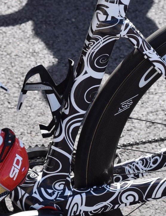 A concaved section on the lower part of the seat tube is on the current iteration of the bike