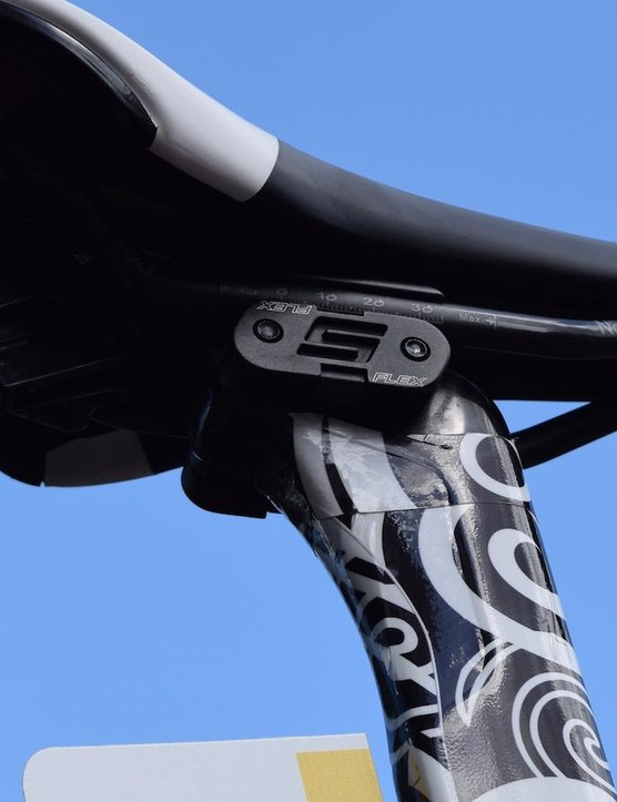 It appears the new Reacto will retain the S-Flex seatpost and Flip-Flop seat clamp from the current design