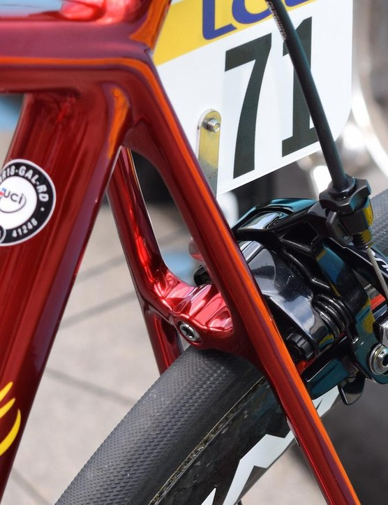 The paint provides a clean finish throughout the bike