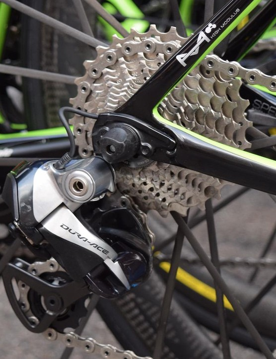 Cannondale-Drapac is running Shimano Dura-Ace 9000 series groupsets
