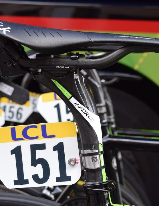 FSA provides the seatpost, cockpit and chainrings for the American team