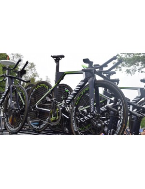 The Canyon Speedmax of Movistar Team