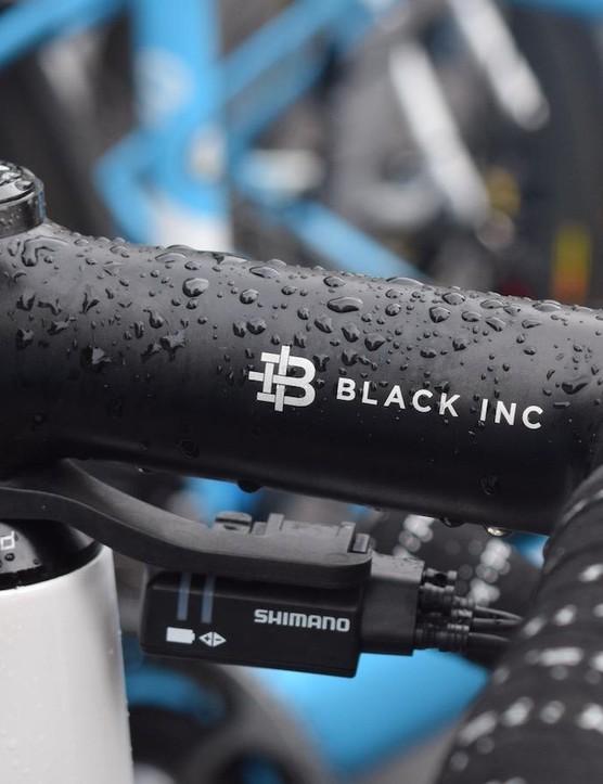 Black Inc provides the stem, seatpost and handlebars for the AG2R La Mondiale team
