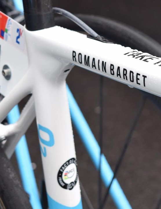Bardet's name is also written boldly along the top tube