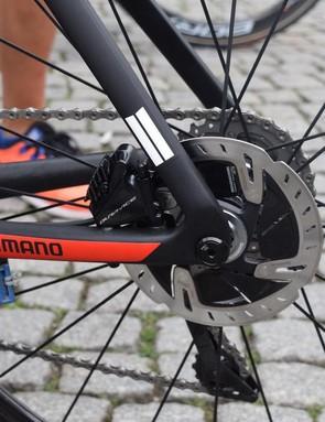 Matthews' and Kittel's bikes feature thru-axles