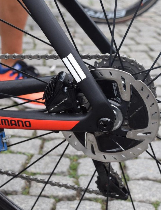 Matthews' and Kittel's bikes feature thru-axles
