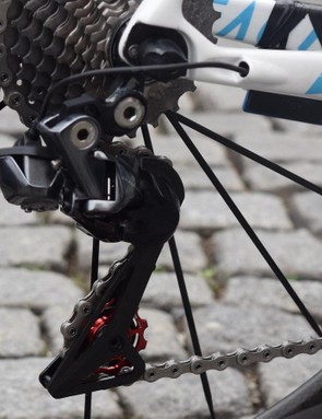 AG2R La Mondiale has modified its Dura-Ace 9150 rear derailleurs with CeramicSpeed jockey wheels