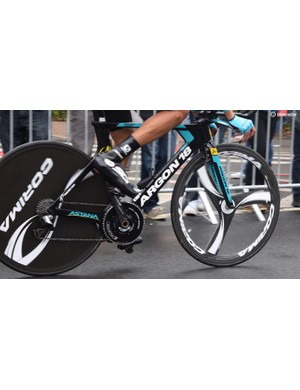 Astana raced the time trial on the Argon18 E-118