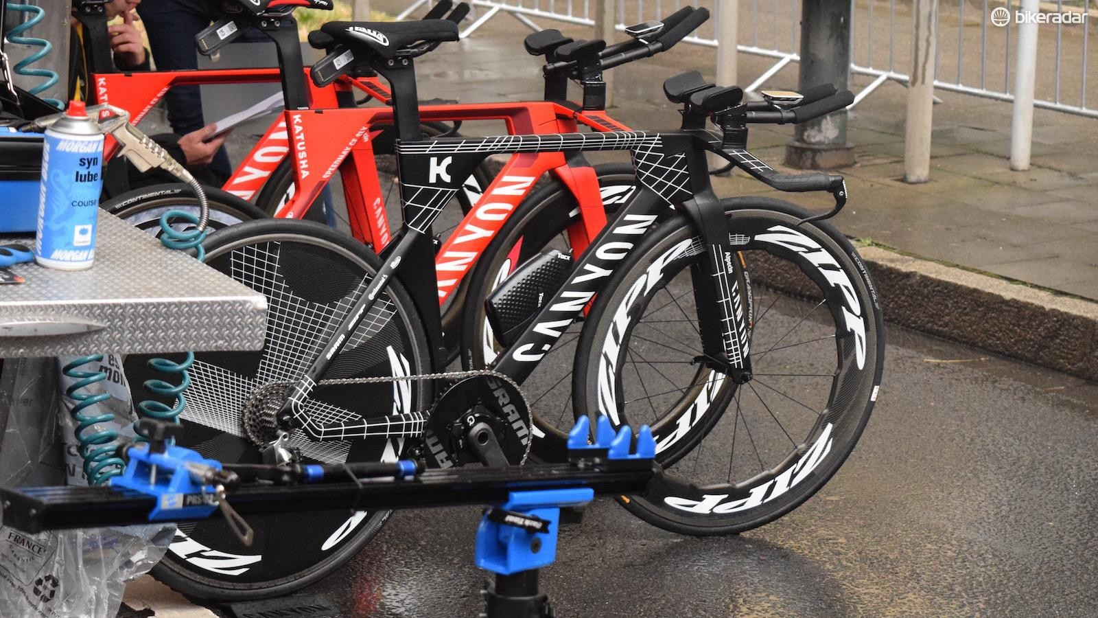 Tony Martin had a special edition Kraftwerk Canyon Speedmax CF SLX for the Dusseldorf Grand Depart