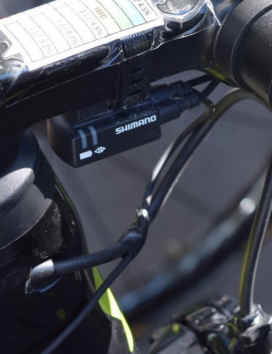 A touch of electrical tape to keep the cables tidy under the stem