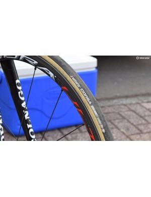 Gum-wall Vittoria Corsa 25mm tyres