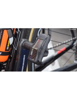 UAE Team Emirates' bikes are equipped with Look Keo Blade Carbon pedals