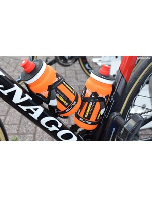 Even the Elite Vico Carbon bottle cages are Italian