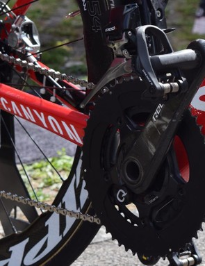 Martin ran a 54T chain set for the relatively flat stage