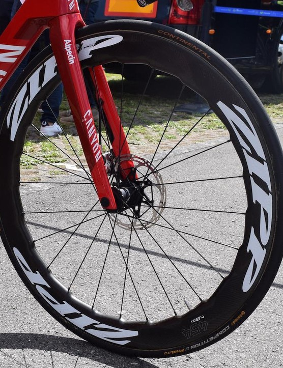 Zipp currently only offers clincher versions of the 454 NSW, suggesting tubular versions will be available soon