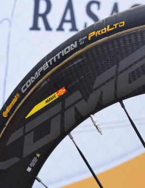 AG2R La Mondiale runs Continental Competition ALX 25mm tubular tyres