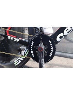 ROTOR provides the NoQ chainrings and 2inPower power meter