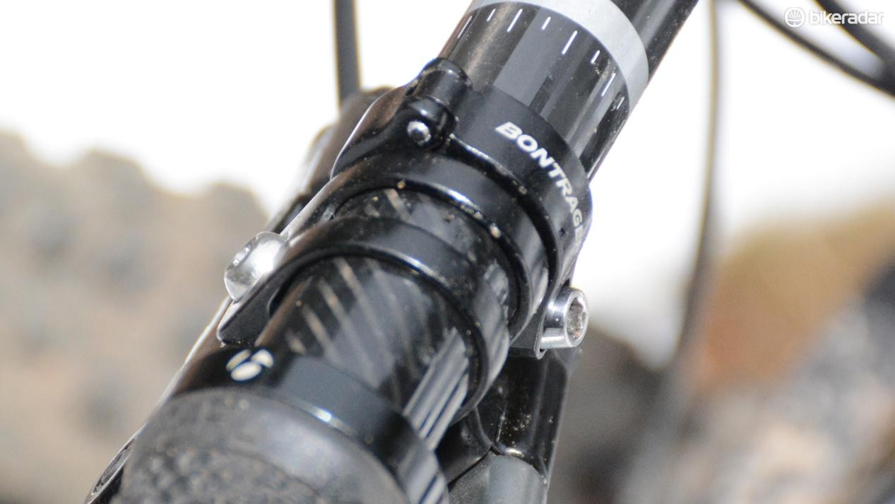 While not compatible with SRAM's clamps or lock-on grips like other remotes, the Drop Line remote clamp is hinged for simple installation and removal