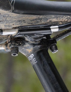 A standard two-bolt seat clamp is always welcome