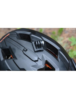 The camera mount is easily removable and leaves the helmet low profile