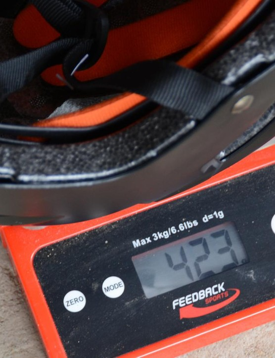 At 423g, it's 30 to 70g heavier than other all-mountain lids