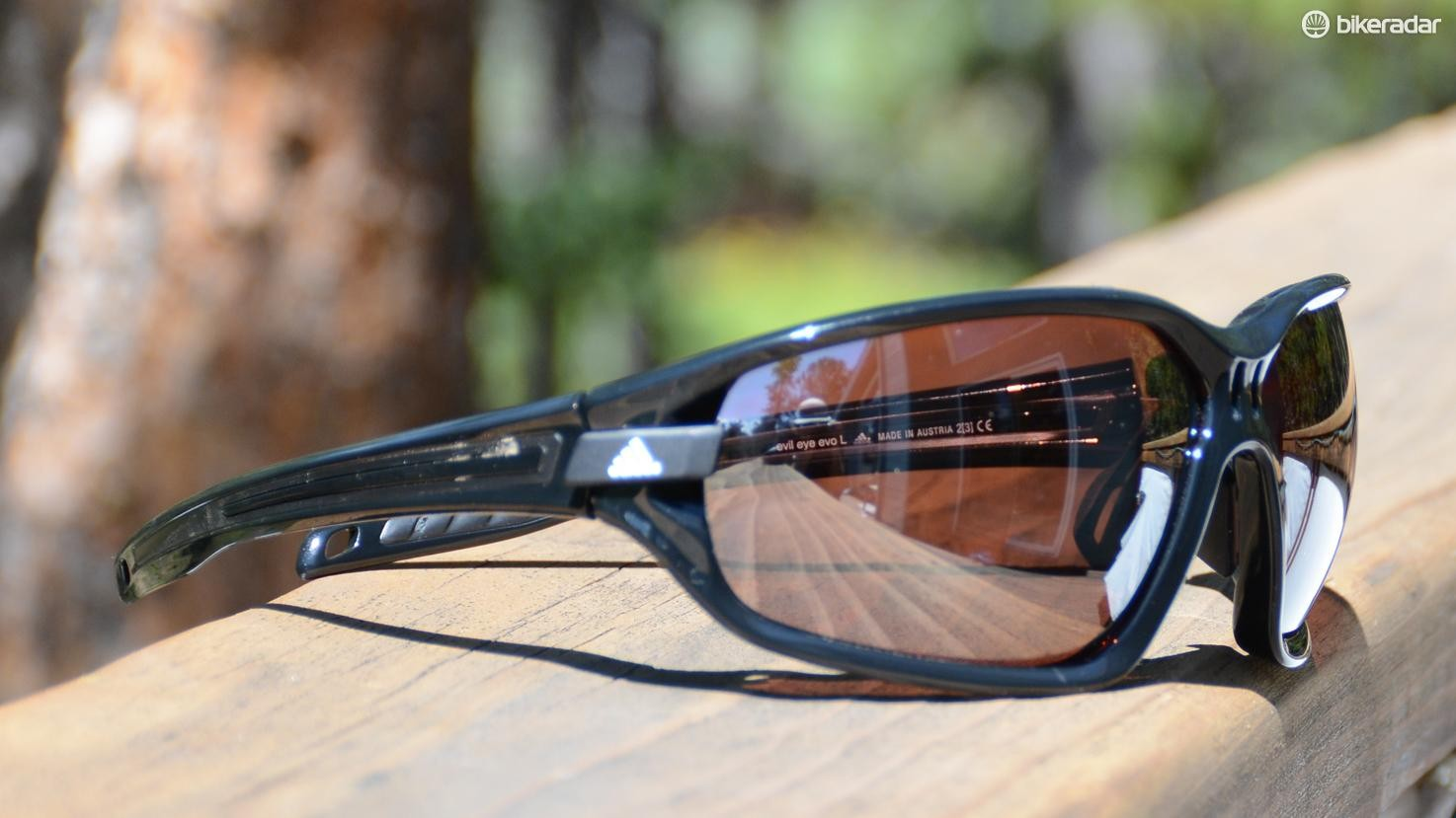 Adidas Evil Eye Evo glasses are very large and provide a lot of coverage