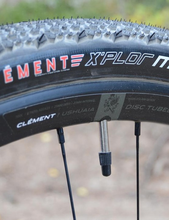 The stock build finds the middle ground with 40mm Clement X'Plor MSO tires