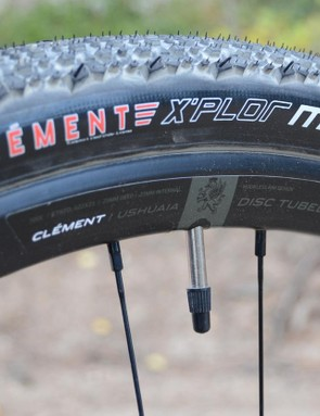 While I personally would appreciate some bigger knobs, the Clement, now Donnelly, XPlor MSO tires are a good match for the Search XR Ultegra