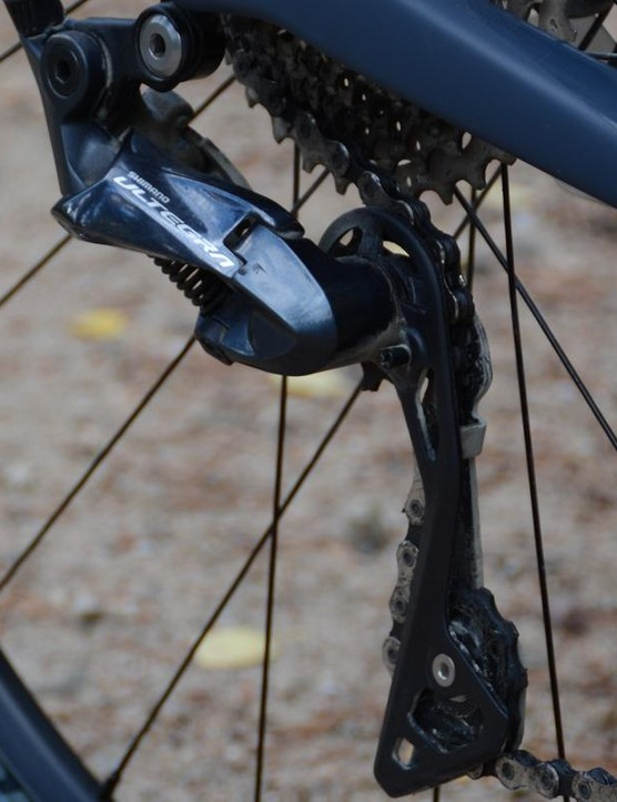 As the model name suggests, Shimano's Ultegra is on drivetrain duty