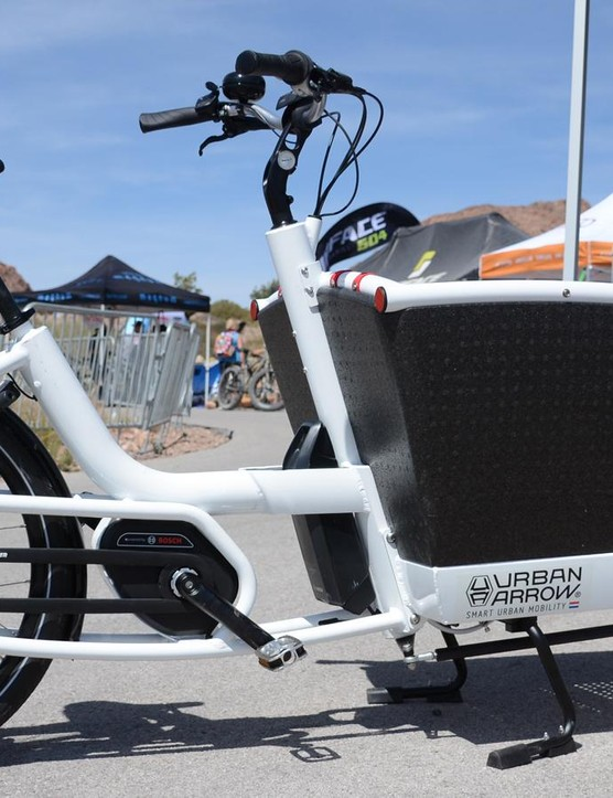 The Urban Arrow e-bike can be configured with short, medium and long front ends