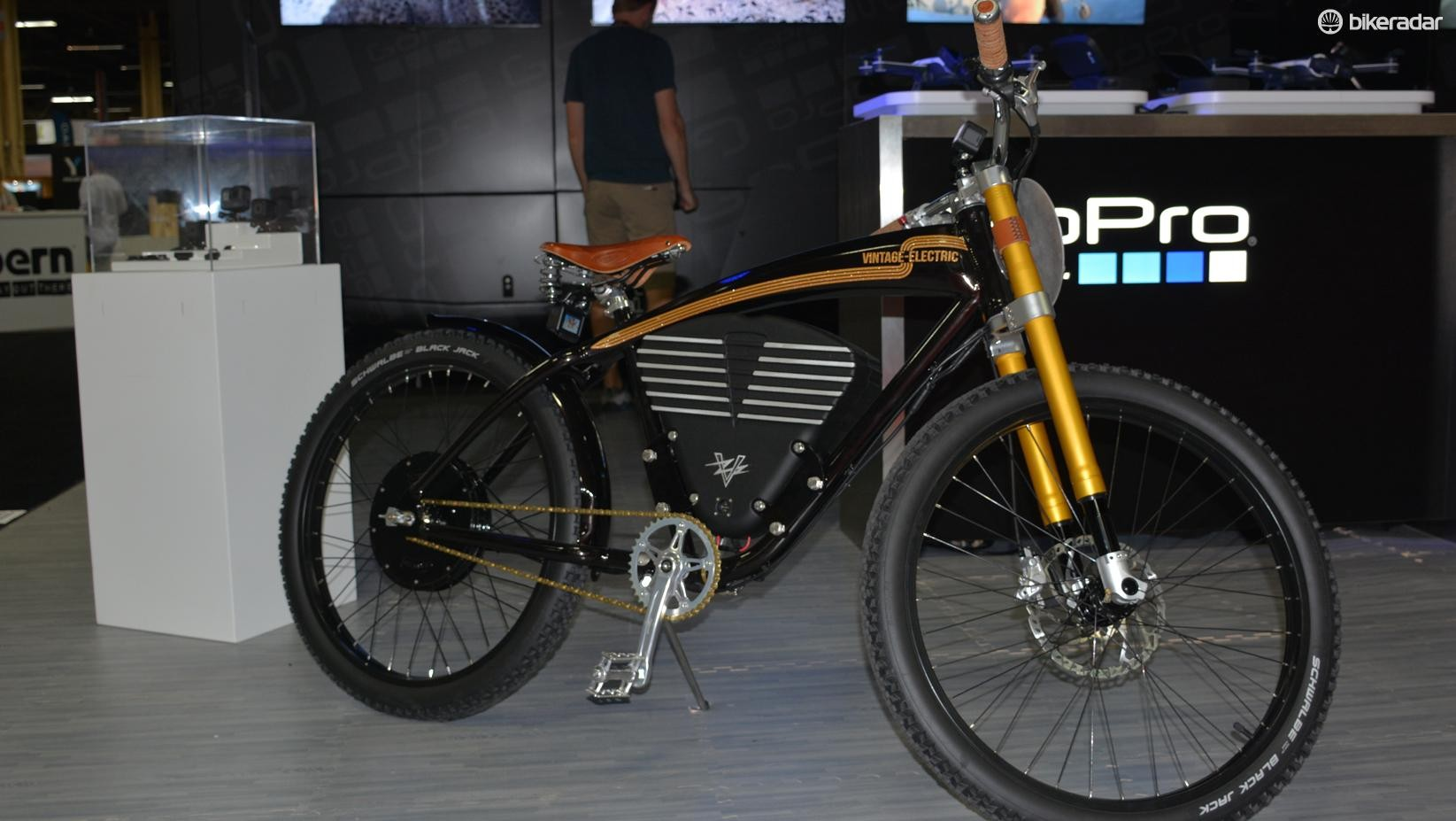 Vintage Electric makes a range of stylish e-bikes that reach back to mid-20th century motorcycles