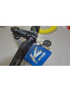 Team Sky uses Shimano brand PRO's Vibe stem and aero handlebars but needed a way to mount their computers. Enter K-Edge