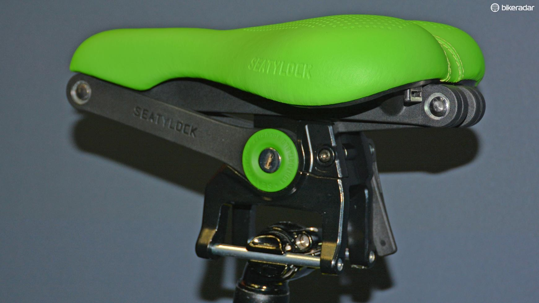 Seatylock is what it sounds like, a bike seat and a lock